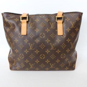 Louis Vuitton Hand Bag Cabas Piano Brown Monogram